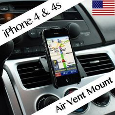 Techno Earth Car Air Vent Phone Holder Compatible With Apple® iPhone 4 iPhone 4S AT, Sprint, Version 16GB 32GB 64GB by Techno Earth. $9.99. Mount your mobile phone to match your exact sightline with Techno Earths Air Vent Mount. Put your iPhone 4/4S into the perfect fit cradle, attach the cradle to the adjustable air vent mount and secure it to your vents. The pedestal features a ball and socket mechanism that rotates your phone for perfect viewing. The mou...