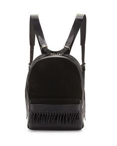 Bianca Mini Fringe Backpack, Black - 3.1 Phillip Lim