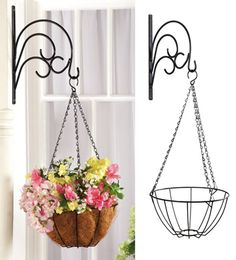 Decorative Scroll Hanging Basket with Wall Mount
