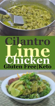This cilantro lime chicken is gluten-free, grain-free, dairy-free, keto, low-carb and Whole30 compliant!
