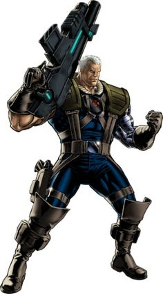Cable character model from Marvel: Avengers Alliance Marvel Dc Comics, Marvel Avengers Alliance, Comics Anime, Marvel Heroes, Comic Book Characters, Marvel Characters, Comic Character, Comic Books Art, Comic Art