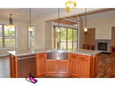 Country House Plan Kitchen Photo 01 - Craftsman Ranch House | One Story Craftsman House Plan<br> Kitchen Floor Plans, Kitchen Flooring, House Floor Plans, Craftsman Ranch, Craftsman House Plans, Shingle Style Homes, Energy Efficient Homes, Kitchen Photos, Outdoor Living Areas