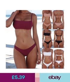 Swimwear Uk Women Bandage Bikini Push-Up Padded Bra Swimsuit Bathing 2Pcs Set Swimwear #ebay #Fashion