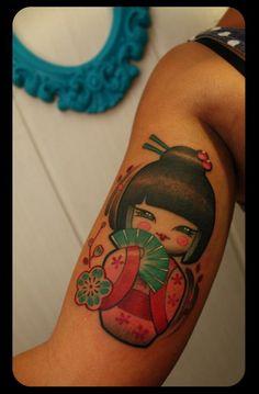kokeshi tattoo - Pesquisa Google