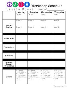 Guided Math Workshop Organization - Editable Pages by Kate Searcy Maths Guidés, Math Classroom, Teaching Math, Math Math, Math Fractions, Math Games, Math Activities, Classroom Ideas, Math Lesson Plans