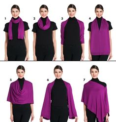Multi-way scarf from Jacob Canada. Wear it 7 different ways!