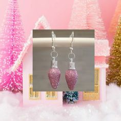 Pinky Pearly Cherry Earrings