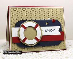 Hand Stamped Greeting Card - Ahoy!