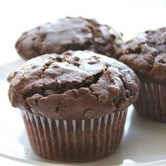 Moist, bakery-style double chocolate muffins!