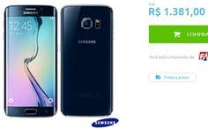 Samsung Galaxy S6 Edge Preto com 51 4G Android 5.0 Octa-Core 32GB Câmera 16 MP << R$ 138100 >>