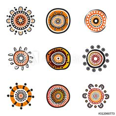 Aboriginal art dots painting icon logo design illustration template - Buy this stock vector and explore similar vectors at Adobe Stock Aboriginal Art Dot Painting, Aboriginal Tattoo, Aboriginal Art Symbols, Aboriginal Culture, Logo D'art, Art Logo, Indigenous Australian Art, Indigenous Art, Art Design