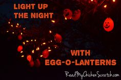Make a string of Egg-O-Lanterns to brighten up your Halloween decor this year!