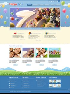 #Happy #Kids - #Children #WordPress #Theme : Happy Kids is a simple and clean, but still professional children WordPress Theme. It is designed towards #kindergartens, #daycares, #preschools and other small #busineses. It's created by using the latest #HTML5 and #CSS3 technologies. It comes with 6 different color styles and 9 different background patterns.