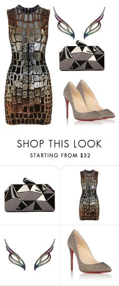"""Untitled #293"" by hallierosedale ❤ liked on Polyvore featuring WithChic, Balmain, AS29 and Christian Louboutin"