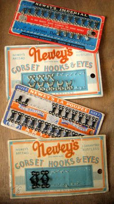 Vintage Newley's Hooks and Eyes