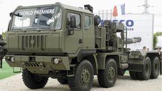 autocarro pesante M1250.70T WM 8x8 con motore 16 litri FPT Industrial Cursor 16 che sviluppa 680 hp (507 kW); cambio a 12 velocità con trasmissione automatica