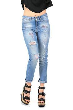 Kocca - Jeans - Abbigliamento - Jeans in cotone elasticizzato modello boyfriend con dettagli consumati sulla lunghezza.La nostra modella indossa la taglia /EU 25. - L411 - € 120.00