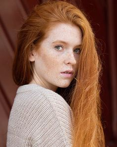 Redheads Magazine  - Be like @rubystratford. Don't cover up your freckles. ☺️ #redheadsmagazine #freckles #redhead #383  by @briandowling