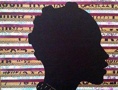 African American Art Natural Hair Art Cut Paper door WashingtonCuts