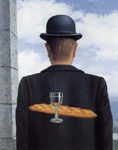 René Magritte - The Intimate Friend, 1958Fosterginger.Pinterest.ComMore Pins Like This One At FOSTERGINGER @ PINTEREST No Pin Limitsでこのようなピンがいっぱいになるピンの限界