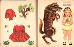 Miss Missy Paper Dolls: Little Golden Activity Book titled Little Red Riding Hood.  The book was published in 1959 by Golden Press.