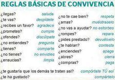 Reglas básicas de #convivencia #educación
