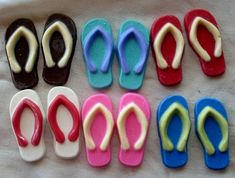 Chocolate Flip Flop cupcake toppers by candycottage on Etsy
