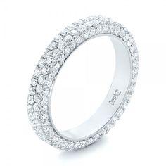 Custom Edge-Less Pave Diamond Eternity Wedding Band   Joseph Jewelry   Seattle   Bellevue   Online   Design Your Own Ring #DiamondEternityRings