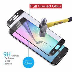 Pour Samsung Galaxy S6 edge S6 edge Plus Trempé Verre 3D Surface courbe Pleine Couverture Protecteur D'écran De Protection Film Pour S7 bord