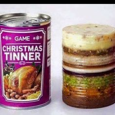 An entire Christmas dinner in a can. Nooooooooooooo