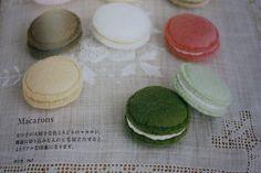 macarons en feutrine