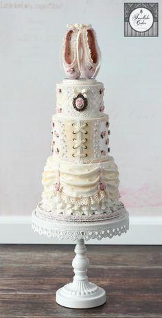 Vintage ballerina cake by Tamara Ballet Cakes, Dance Cakes, Ballerina Cakes, Vintage Ballerina, Unique Cakes, Elegant Cakes, Creative Cakes, Gorgeous Cakes, Pretty Cakes