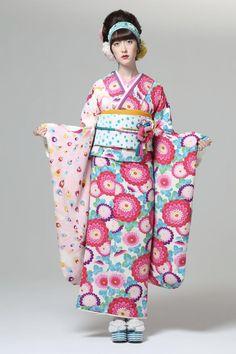 # 2: Furisode fall 2013 collection, by designers Furifu, Japan. Image via Pinterest
