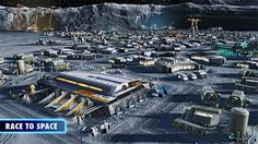 Anno 2205 PC Game city built on moon