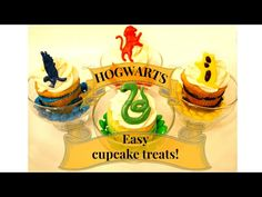 HARRY POTTER 'THE FOUR HOUSES OF HOGWARTS' CUPCAKES!