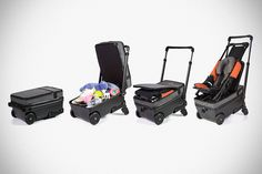 Baby Strollers Born To Fly Baby Suitcase Baby Stroller Hybrid Toddler Stroller, Baby Strollers, Traveling With Baby, Travel With Kids, Baby Travel, Flying With A Baby, Diy Bebe, Baby Cover, Baby Diaper Bags