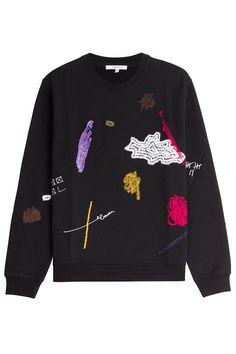EmbroideredCottonSweatshirtfromCARVEN | Luxury fashion online | STYLEBOP.com