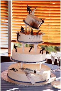 The manliest wedding cake ever!