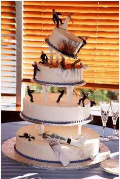 The manliest wedding cake ever!