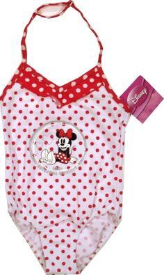 Costum de baie oficial Disney cu Minnie 80% poliamida, 20% elastan. Bikinis, Swimwear, Costumes, Retro, Disney, Fashion, One Piece Swimsuits, Moda, Dress Up Clothes