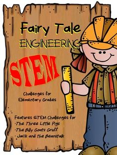 Your students will love practicing engineering skills to help their favorite fairy tale characters from: Stem Science, Teaching Science, Teaching Ideas, Stem Activities, Fairy Tale Activities, Fractured Fairy Tales, Billy Goats Gruff, Steam Learning, Fairy Tale Theme