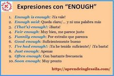 "Expression of ""enough"""