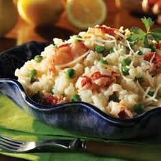 Lobster Risotto with Peas
