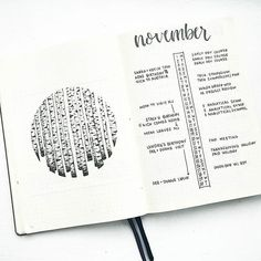 Minimalistic monthly spread for Bullet Journal #bulletjournal #bujo #monthly