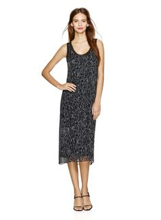 BABATON ALDEN DRESS - Channeling clean, minimalist lines in silk georgette printed with a custom <em>Cracked Floral</em> print