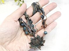 Blooming Lotus Necklace  Wiccan Jewelry Witchcraft Talisman / image 5 Lotus Necklace, Wiccan Jewelry, Witch Fashion, Witchcraft, Bloom, Bracelets, Gifts, Handmade, Etsy