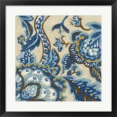 Indigo+Tapestry+II+at+FramedArt.com