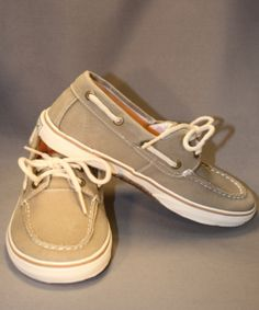 This khaki canvas boat shoe from Sperry is one of our favorites! Sure to go with everything, and super comfortable, he'll love it too! Looks good with both shorts and pants so it's perfect year round. Boys Casual Shoes, Canvas Boat Shoes, Little Man, Sperrys, Youth, Pairs, Shorts, Fashion, Moda