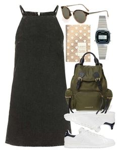 """Untitled #5430"" by rachellouisewilliamson on Polyvore featuring adidas Originals, Burberry and Casio"