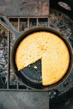 An easy cornbread recipe that cooks up in a cast iron skillet over your campfire. Perfect with a bowl of chili on your next camping trip!